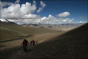Anstieg zum Kongmaru-la Pass
