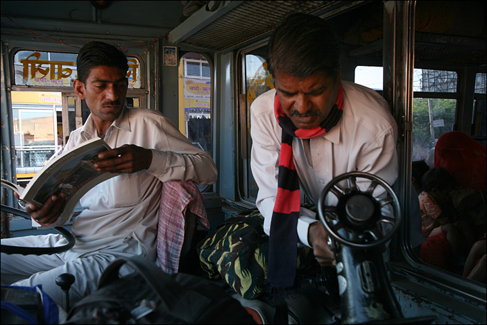 Busfahrt in Rajasthan