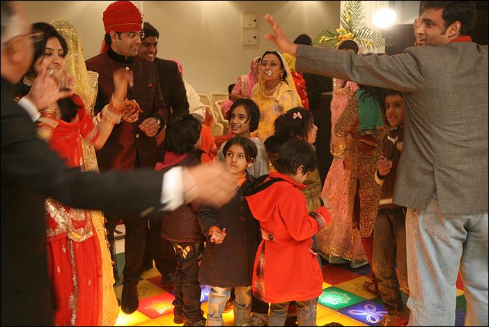 Szene auf Hochzeitsfeier