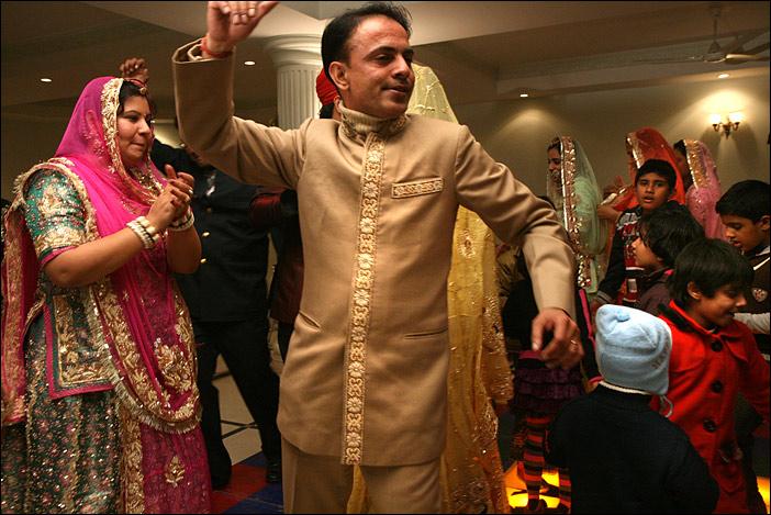 Tänzer auf Hochzeitsfeier