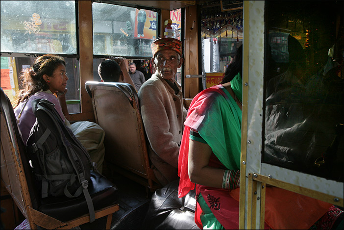Busfahrt in Himachal Pradesh