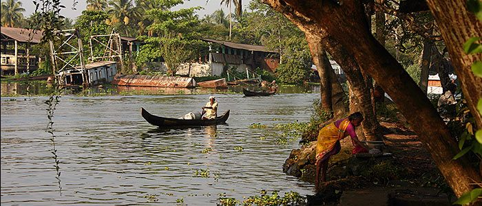 Kerala: Backwaters bei Aleppey