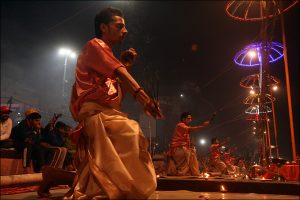 Aarti in Varanasi am Ganges