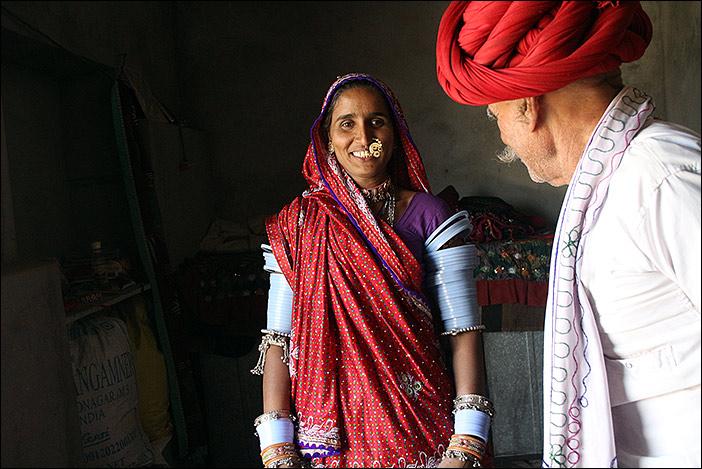Suki, eine Raika in Rajasthan